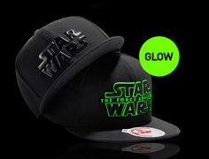 check out cc0f8 07479 Glow In The Dark Star Wars Logo Snapback Cap by NEW ERA