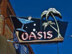 Oasis Neon Sign by Lufitoom, via Flickr