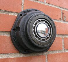 salvaged junk auto parts wall mirror indoor outdoor by Paula Art