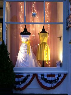 Bridal & Bridesmaid window display @ Elizabeth Ann's Bridal Boutique in Holden,MA 01520 (508)829-8188