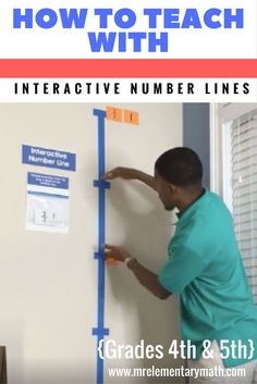 Are your and grade students struggling with number sense? Watch how to use interactive number lines with your students. Learn hands-on math games and activities that include teaching fractions and decimals. by aileen Multiplication, Teaching Fractions, Math Fractions, Teaching Math, Teaching Ideas, Math Manipulatives, Math Strategies, Math Resources, Math Activities