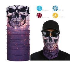 Skull Half Face Bandana Skeleton Motorcycle Biker Paintball Mask Scarf