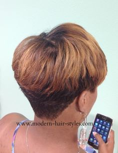 Short Pixie with deep Layers. Styling Options..  Quick Weave Custom Styled Human Hair Wig 27 Piece Your Own hair Trimmed