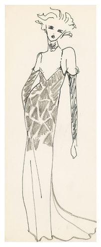 La Chevauchée sur le lac de Constance, croquis de théatre YSL, 1974 Théâtre - Expositions - Archives Pierre Bergé Yves Saint Laurent