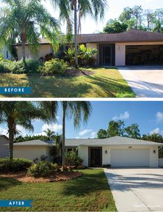 home staging exterior landscaping before and after pictures