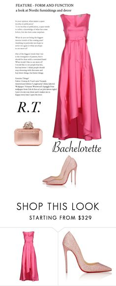"""""""R.T.-1871 Dress Rachel for the Bachelorette!"""" by sopo-davituri ❤ liked on Polyvore featuring KI6? Who Are You?, Christian Louboutin and Jimmy Choo"""