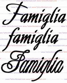 italian tattoos - Means family