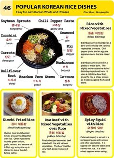 46. Popular Korean Dishes. An Illustrated Guide to Korean by Chad Meyer and Moon-Jung Kim.