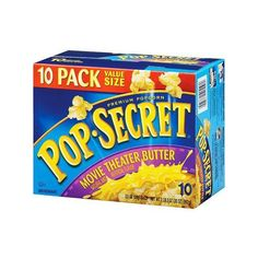 Pop Secret Movie Theater Butter Popcorn, 10 ct Walmart.com ($4.98) ❤ liked on Polyvore featuring food and food and drink