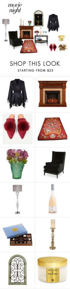 """""""movie night"""" by susibonvi ❤ liked on Polyvore featuring Agent Provocateur, Daum, Ralph Lauren Home, Godiva, Pier 1 Imports and Acqua di Parma"""