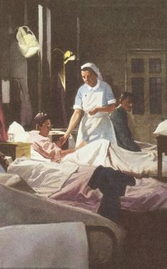 vintage nurse Plaster