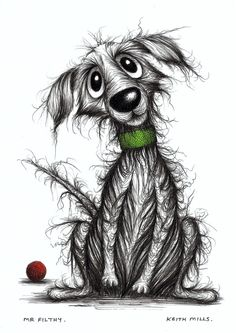Mr Filthy Shabby scruffy smelly pet pooch dog - Keith Mills