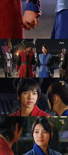Kang chi gets calmed down by Yeo Wol, awesome seen from 'Gu Family Book'