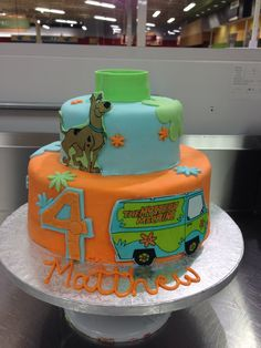 scooby doo taart Scooby Doo Cake | My Own Cakes | Pinterest | Scooby doo cake, Cake  scooby doo taart