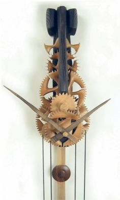 Bruce Aitken, beautiful handmade wooden clocks even more glorious in real life