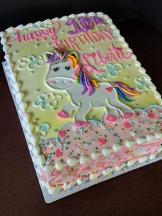 Cake nature fast and easy - Clean Eating Snacks Birthday Sheet Cakes, Birthday Cake Girls, 5th Birthday, Unicorn Themed Birthday Party, Unicorn Party, Cupcakes, Cupcake Cakes, Bolo Da Peppa Pig, Cold Cake