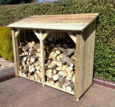 × Check more at www. Firewood Shed, Firewood Storage, Outdoor Projects, Wood Projects, Log Shed, Rental Makeover, Pool Deck Plans, Log Store, Wood Storage Sheds