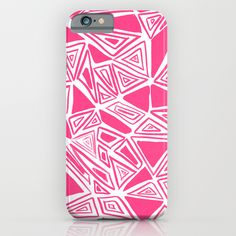 Triangles Pink iPhone & iPod Case
