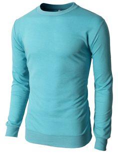 $11.99 Doublju Men's Lightly Crew Neck Sweatshirts Of Various Color With Long Sleeves (KMTTL0121)