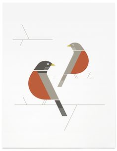 Bird Illustration Design {love the simple shapes, lines & colors} // Allison Newhouse – Simple Illustration, Bird Illustration, Graphic Design Illustration, Illustrations, Geometric Bird, Bird Graphic, Aesthetic Drawing, Abstract Shapes, Simple Shapes