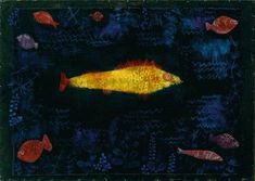 Art by Paul Klee: Golden Fish - 1925 Paul Klee Art, Golden Fish, Watercolor Projects, Sgraffito, Wassily Kandinsky, Fish Art, Art Club, Oeuvre D'art, Les Oeuvres
