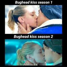 I love the parallel between the first kiss of each season <3