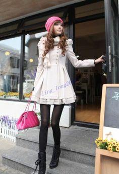 2013 NEW FASHION WOMEN'S Winter flowers shrug Korean wool coat jacket Dress