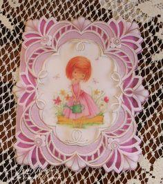 Garden Girl Parchment Card