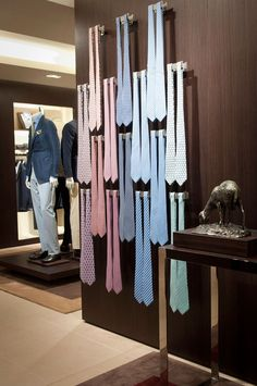 Small pops of soft pastels   Ermenegildo Zegna flagship store by Peter Marino, Sydney » Retail Design Blog