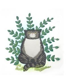 Paper craft Mog the cat by Sarah Dennis
