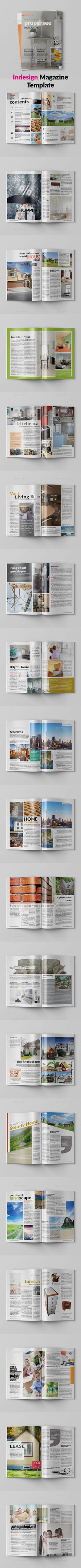 Interior, decor, archi, universal Magazine 40 pages, hi-quality design, Clean, professional and modern Magazine Layout template sa