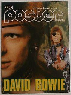 David Bowie 1975 Unique Rare 2 Sided Vintage Yugoslavian Poster Magazine
