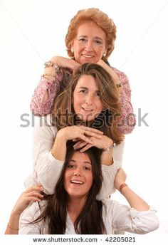 Portrait of Three generations of women of the same family
