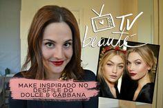 Make inspirado no desfile do Dolce & Gabbana - TV Beauté | Vic Ceridono
