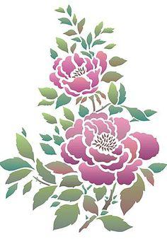 Rose Stencils China Rose Stencil