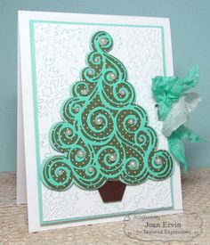 O Christmas Tree Card by Joan Ervin #Christmas, #Cardmaking, #CuttingPlates