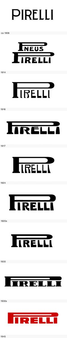 Pirelli logo evolution