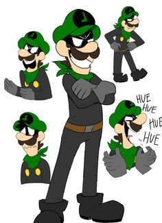 """purplethinks: """" Who IS this guy? What a mysterious character he is >:O """" Super Mario And Luigi, Super Mario Games, Super Mario World, Super Mario Brothers, Mario Bros., Nintendo Characters, Video Game Characters, Green Warriors, Luigi's Mansion"""