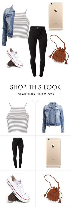 """Untitled #61"" by melissavieraa ❤ liked on Polyvore featuring Topshop, VILA, J Brand, Converse, Patchington, women's clothing, women's fashion, women, female and woman"