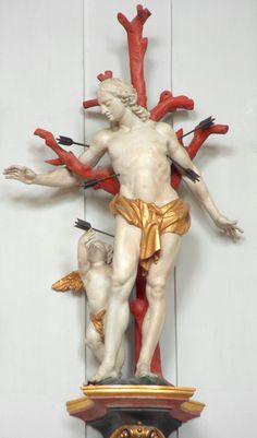 Anonyme, Hl.Sebastian, Pfarrkirche St. Katharina, Gemeinde Wolfegg, Baden-Wurttemberg, Duitsland