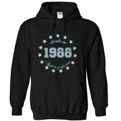 Made in 1988 aged to perfection T Shirts, Hoodies, Sweatshirts. GET ONE ==> https://www.sunfrog.com/Birth-Years/Made-in-1988-aged-to-perfection-Black-Hoodie.html?41382