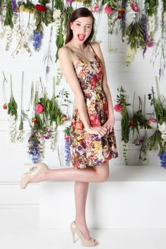 TROPICAL DRESS | Amber Whitecliffe Tropical Dress, Summer 2014, Dress Collection, Amber, Flora, Shoulder Dress, Dresses, Fashion, Vestidos