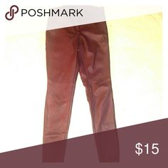 Zara Burgundy Faux Leather Pants Fits tightly/small. Very good condition H&M Pants Straight Leg