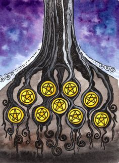 Nine of Pentacles - Tarot of Trees