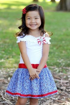 Kids 4th of July outfit.... Oh my goodness this would be perfect for the fourth!