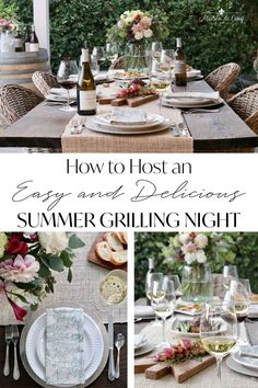 Tips for hosting an Easy but Elegant Grilling Night this Summer! Summer grilling party---> #maisondecinq grilling summergrilling grillingparty summerbbq bbq summerparty summerentertaining diningalfresco summertable tablescape tablesetting bbqrecipes summerrecipes grillingrecipes wine summerentertainingideas #chalkhillestate sonomacountywines californiawines Chalk Hill, Easy Entertaining, How To Dry Oregano, Us Foods, Grilling Recipes, Place Settings, Table Settings, Outdoor Living, Summer Breeze