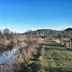 The Shannon Erne Blueway stretches out towards Sheemore The Fairy Hill near Leitrim Village Co. Leitrim Ireland.