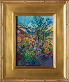 Beautiful framed oil painting of the Borrego Dessert, by Erin Hanson.