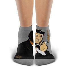 Unisex Comfort Fashion Smoking Dean Martin Cotton Moisture Wicking Extra Heavy Cushion Low Cut Socks Shoe Size for Men Women and Girls Dean Martin, Girl Crushes, Comfortable Fashion, Sock Shoes, Men And Women, Socks, Unisex, Smoking, Casual