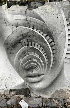 Antonio Mora è un artista spagnolo al quale piace creare cocktail combinando, attraverso una fusione digitale, ritratti fotografici con paesaggi. #fotografia #digitale  Pin by Dielle Web e Grafica  #webdesign #pistoia